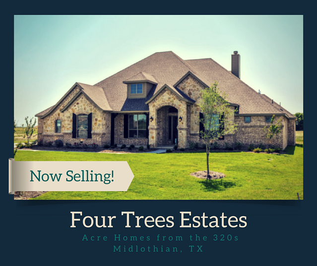 new homes for sale in midlothian tx four trees estates